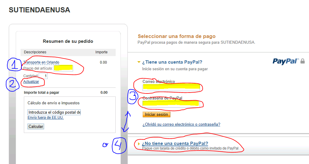 how to get paypal url